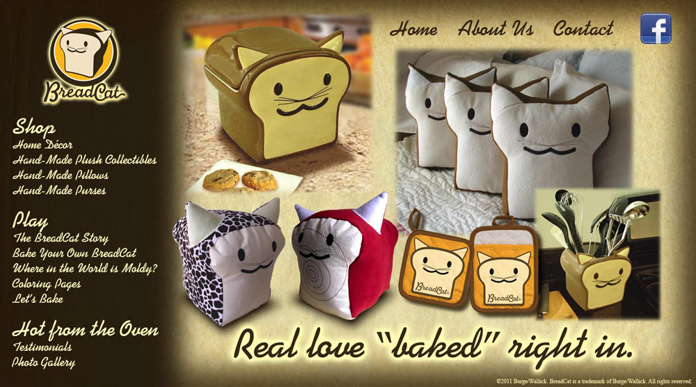 "BreadCat - Real ""love"" baked right in."